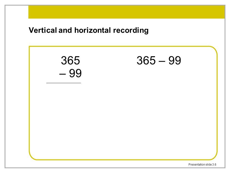 Presentation slide 3.6 Vertical and horizontal recording 365 – 99 365 – 99