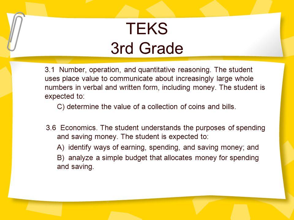TEKS 3rd Grade 3.1 Number, operation, and quantitative reasoning.