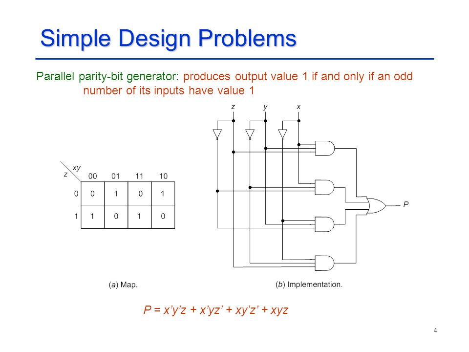 5 Simple Design Problems (Contd.) Serial-to-parallel converter: distributes a sequence of binary digits on a serial input to a set of different outputs, as specified by external control signals