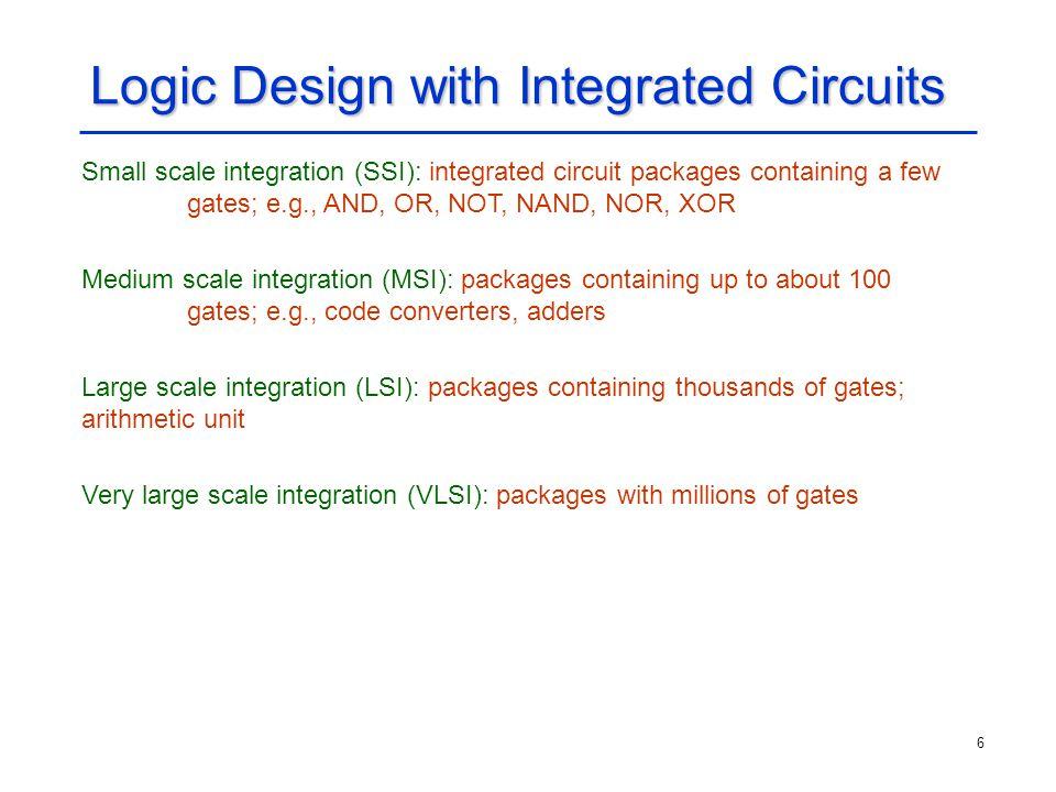 17 Decimal Decoder (Contd.) Implementation using a partial-gate matrix: