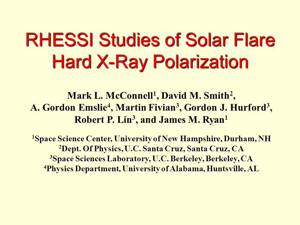 RHESSI Studies of Solar Flare Hard X-Ray Polarization Mark L.