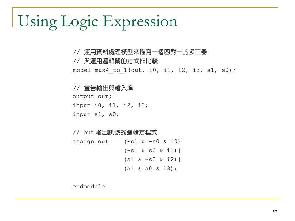 37 Using Logic Expression