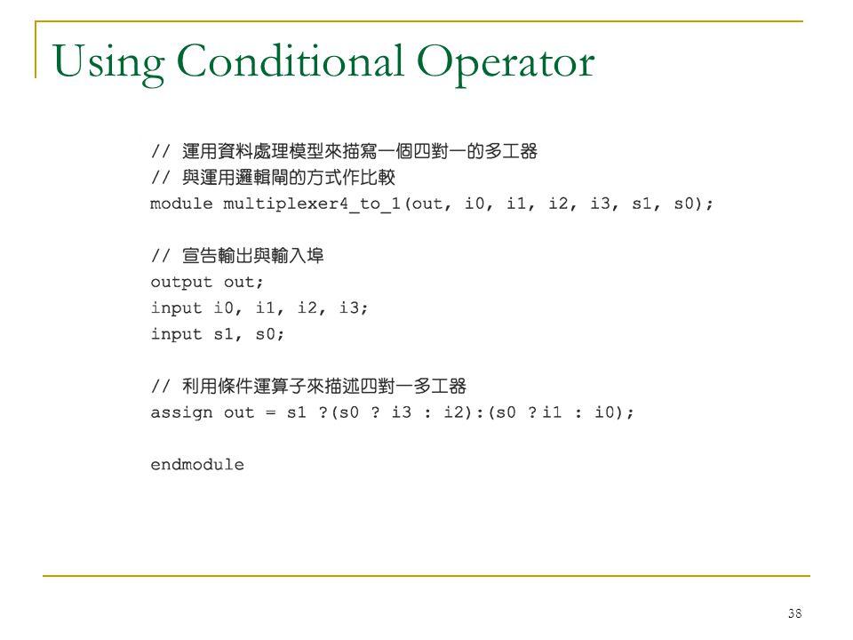 38 Using Conditional Operator