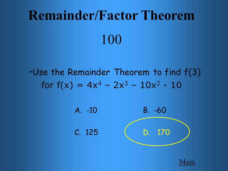 Polynomials 200 Main Get Answer Find the polynomial of least degree given the roots: 1, -1, 3, -3