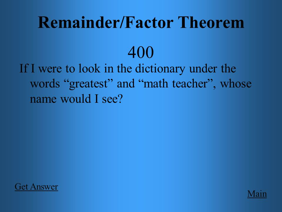 Grab Bag 400 Main Decide whether or not the functions below are polynomials.