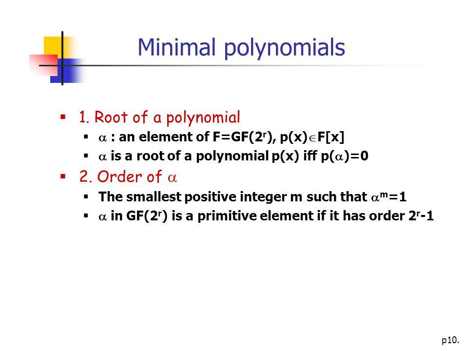 p10. Minimal polynomials  1.