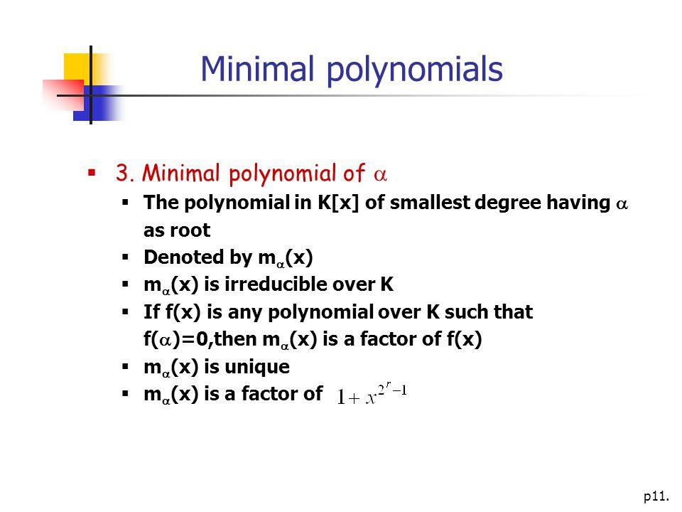 p11. Minimal polynomials  3.