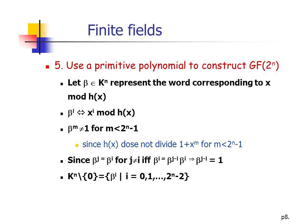 p8. Finite fields 5.