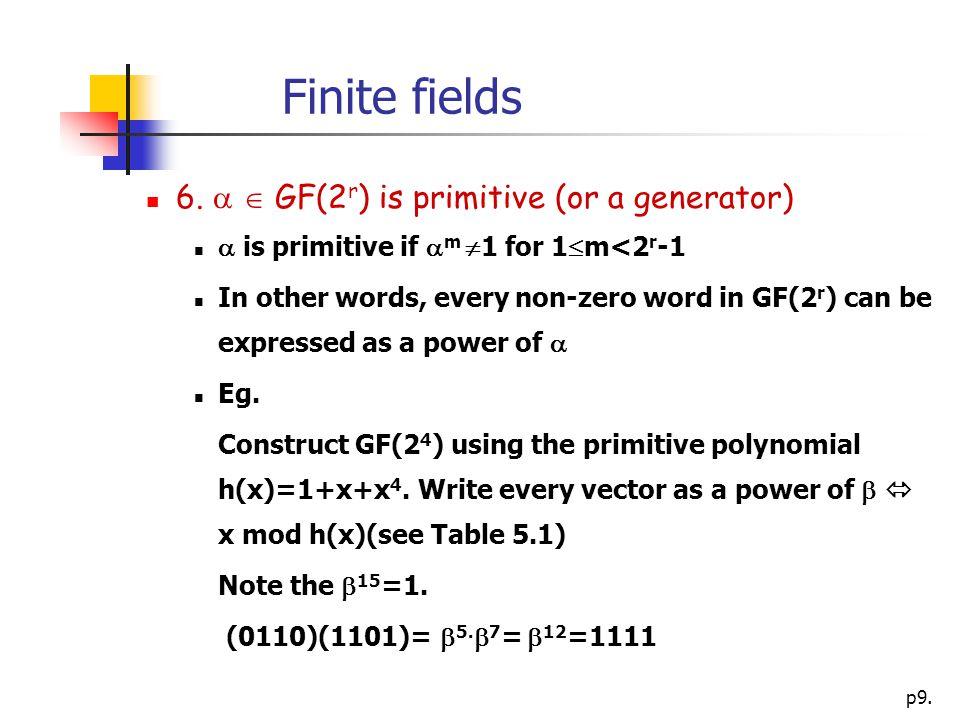 p9. Finite fields 6.