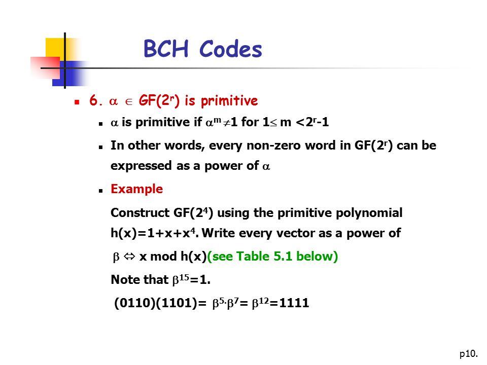 p10.BCH Codes 6.
