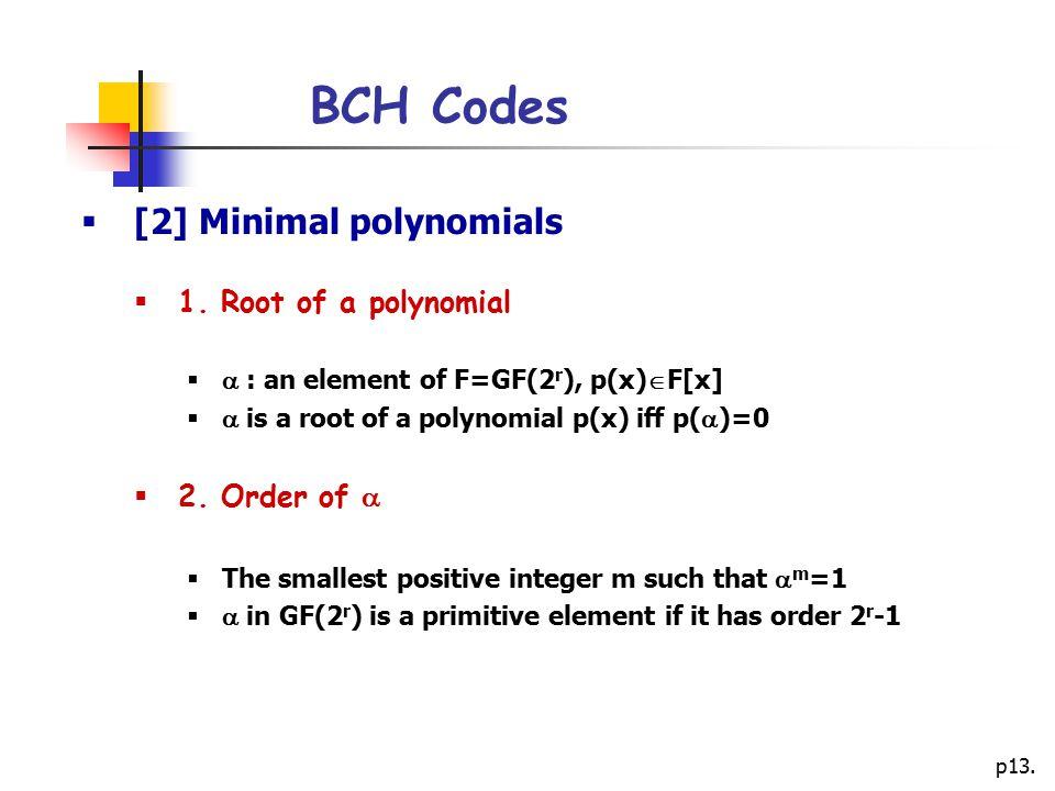 p13.BCH Codes  [2] Minimal polynomials  1.