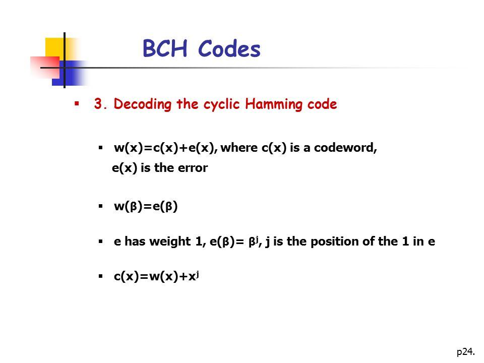 p24.BCH Codes  3.