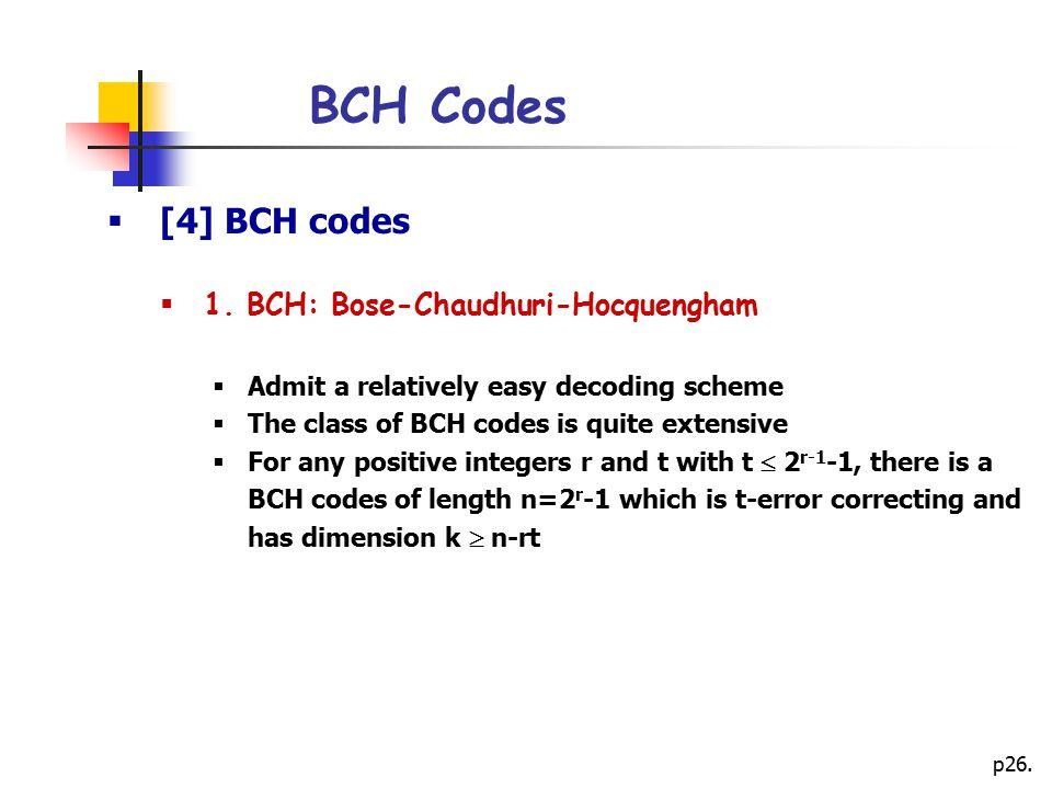 p26.BCH Codes  [4] BCH codes  1.