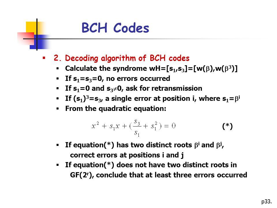 p33.BCH Codes  2.