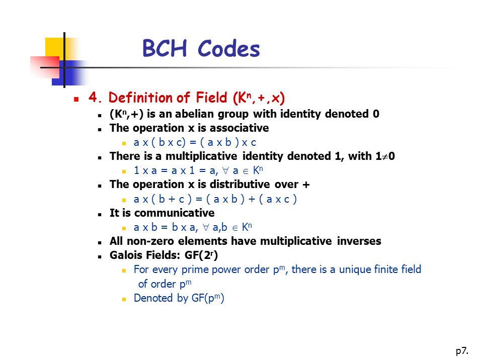 p7.BCH Codes 4.