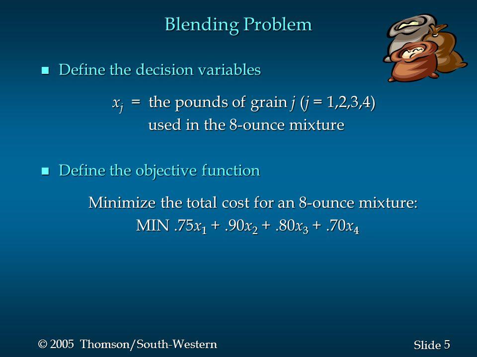 26 Slide © 2005 Thomson/South-Western n Solution Summary Purchase 28 Speedhawks from Sleekboat.