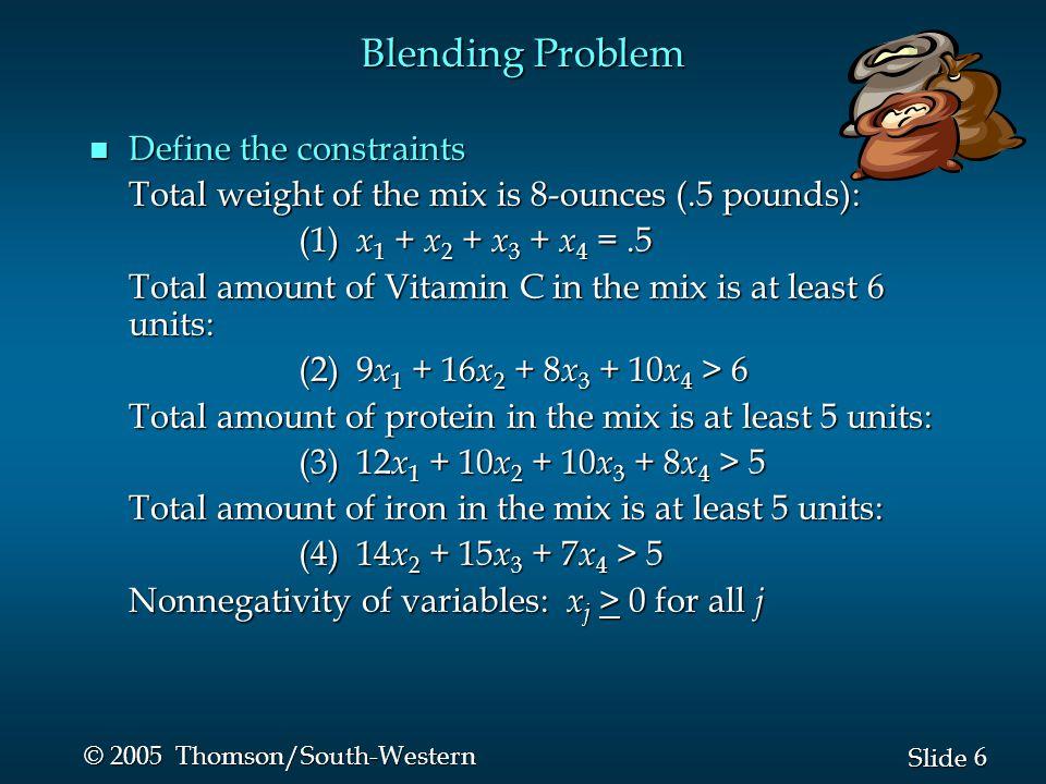 27 Slide © 2005 Thomson/South-Western n Sensitivity Report Product Mix Problem