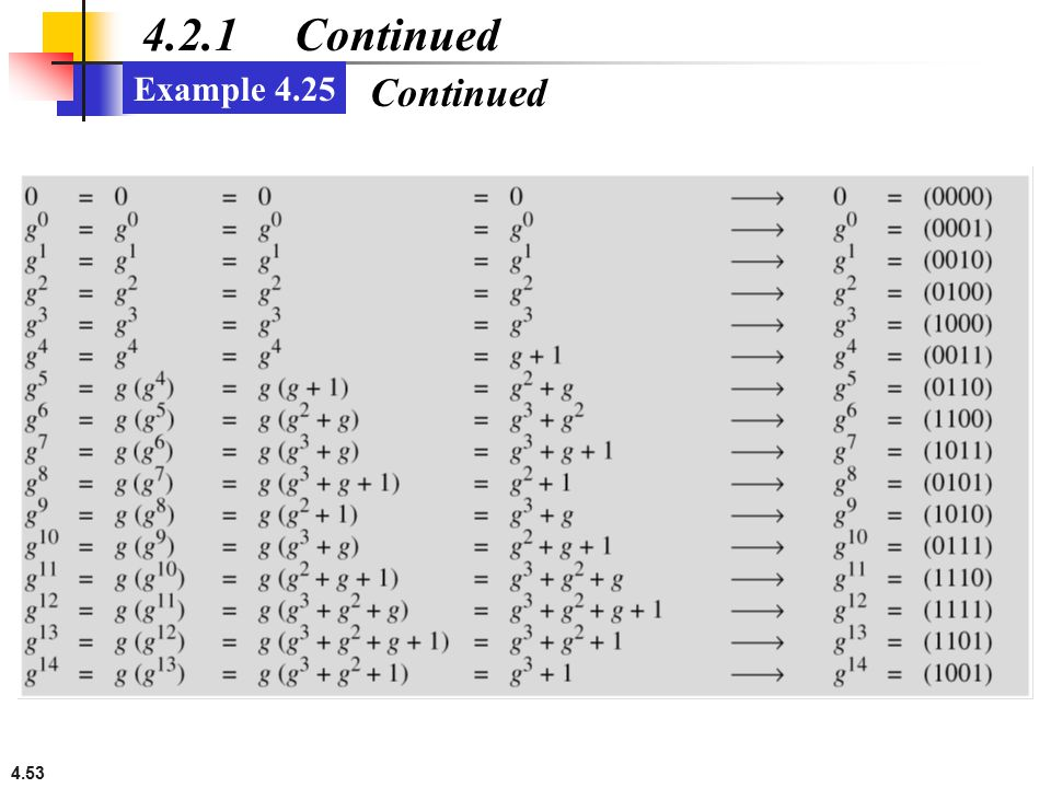 4.53 4.2.1 Continued Example 4.25 Continued