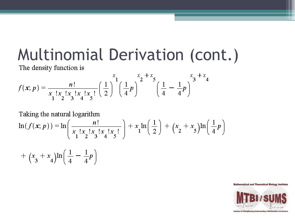 Multinomial Derivation (cont.)