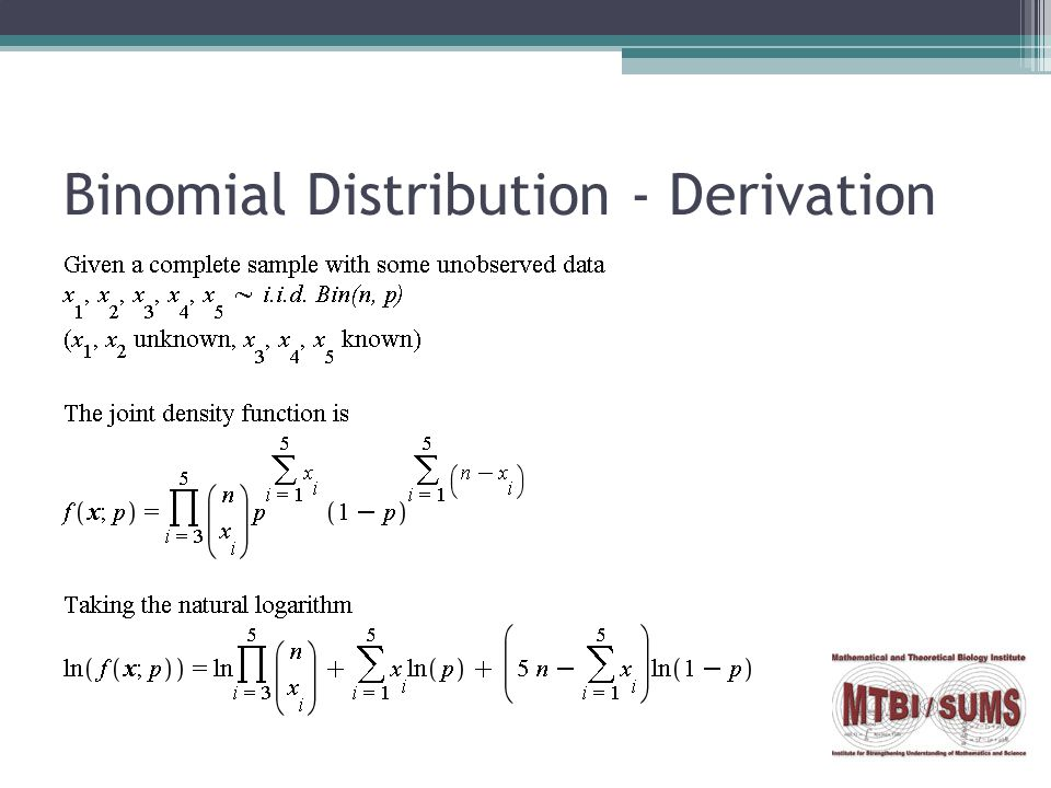 Binomial Distribution - Derivation