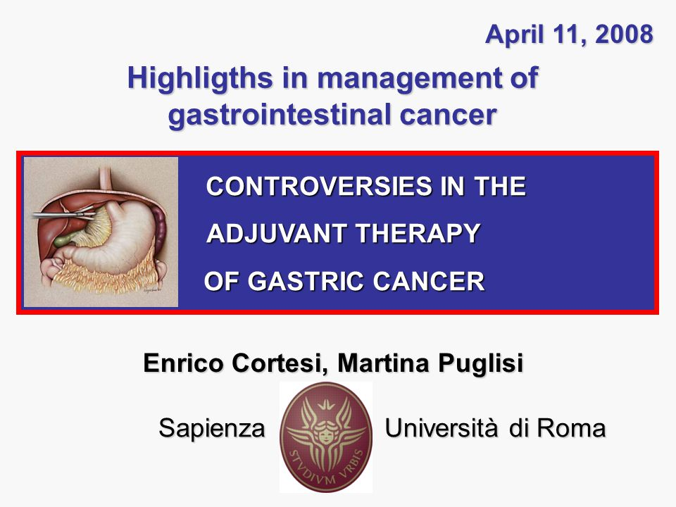 CONTROVERSIES IN THE ADJUVANT THERAPY OF GASTRIC CANCER The role of chemotherapy: Main studied adjuvant modalities Kattan, JCO 2003