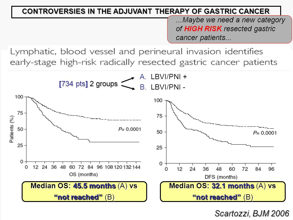 CONTROVERSIES IN THE ADJUVANT THERAPY OF GASTRIC CANCER...Maybe we need a new category of HIGH RISK resected gastric cancer patients...