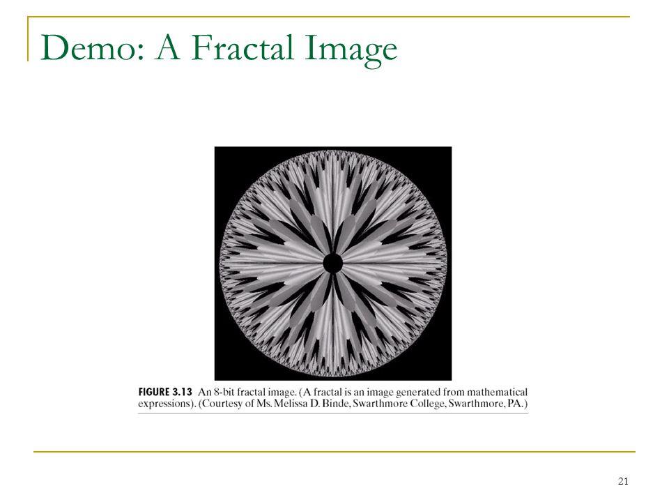 21 Demo: A Fractal Image