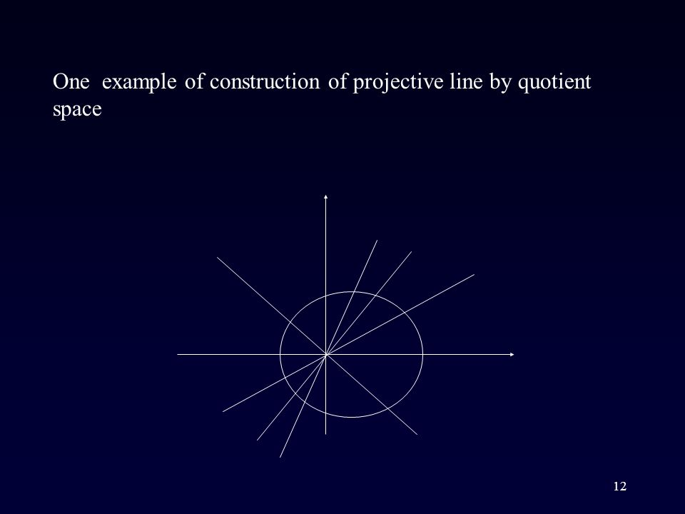 12 One example of construction of projective line by quotient space
