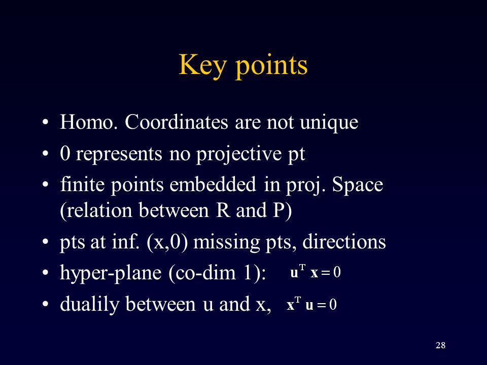 28 Key points Homo.