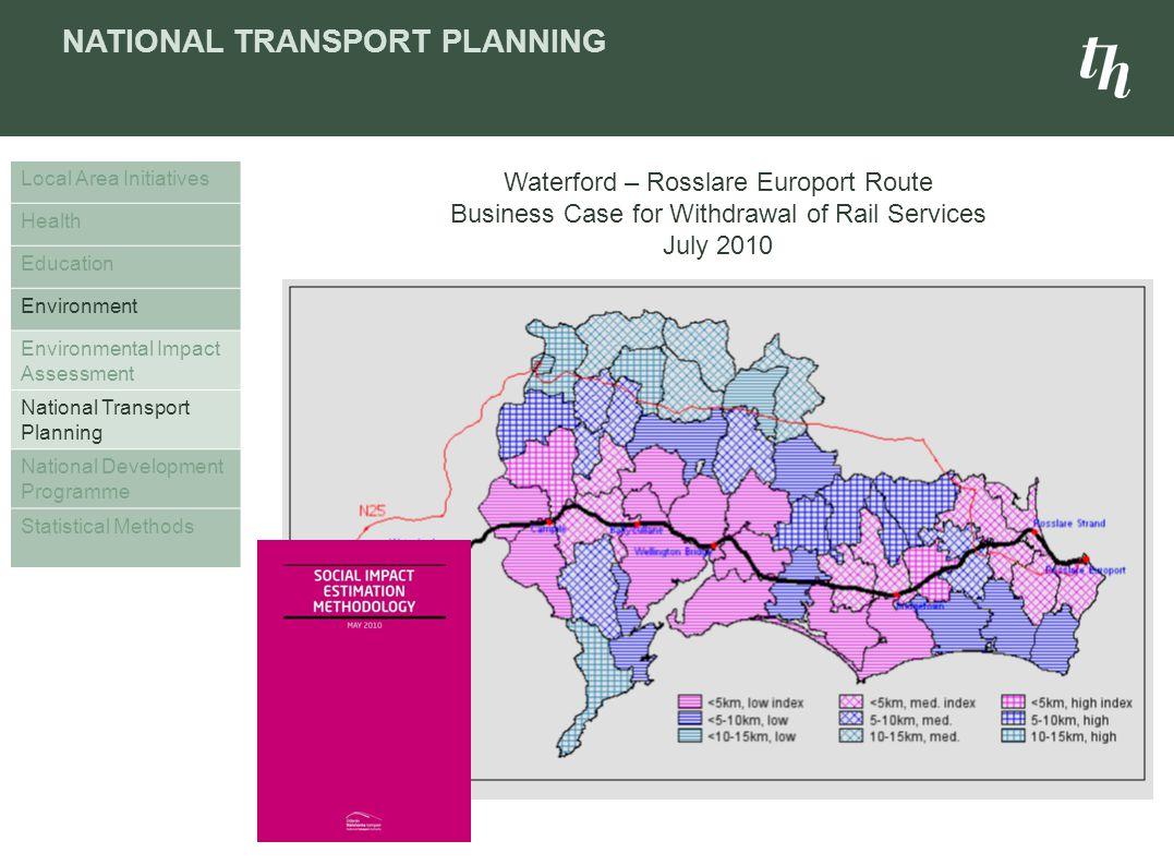 NATIONAL TRANSPORT PLANNING Local Area Initiatives Health Education Environment Environmental Impact Assessment National Transport Planning National D