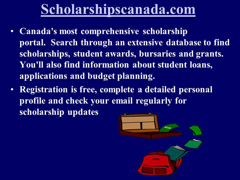 Scholarshipscanada.com Canada s most comprehensive scholarship portal.
