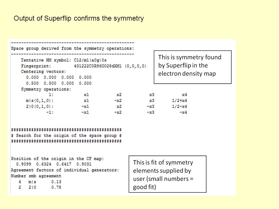 Output of Superflip confirms the symmetry