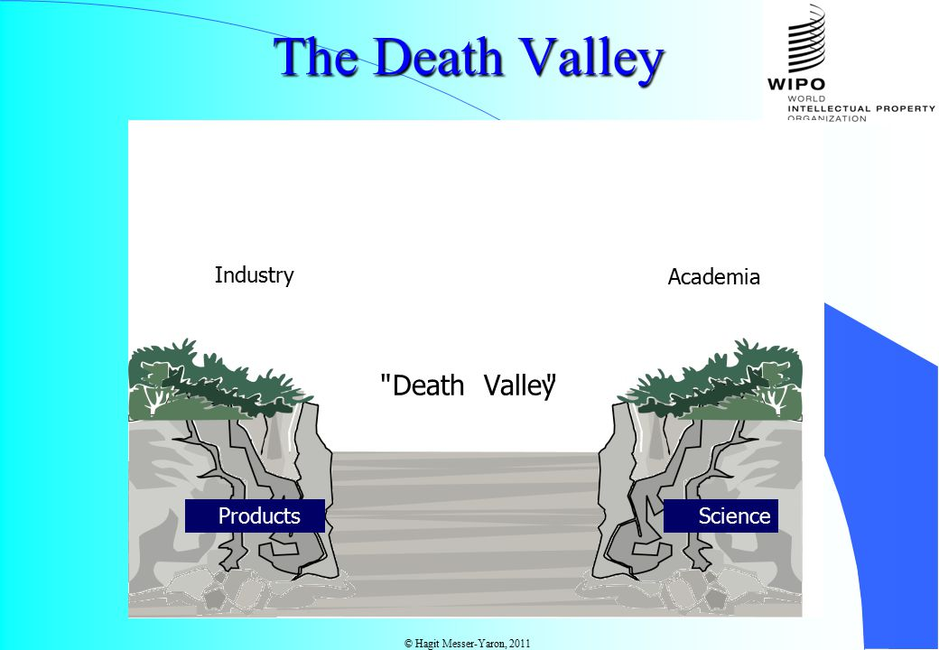 © Hagit Messer-Yaron, 2011 The Death Valley Academia Science Valley Death Products Industry