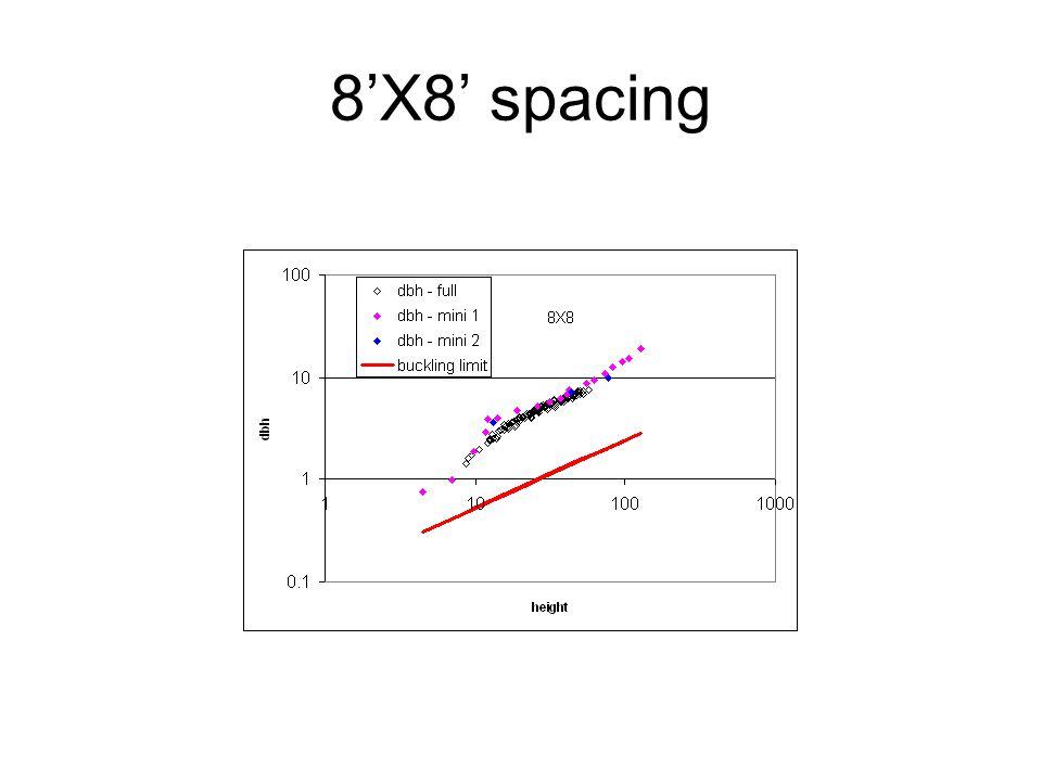 8'X8' spacing