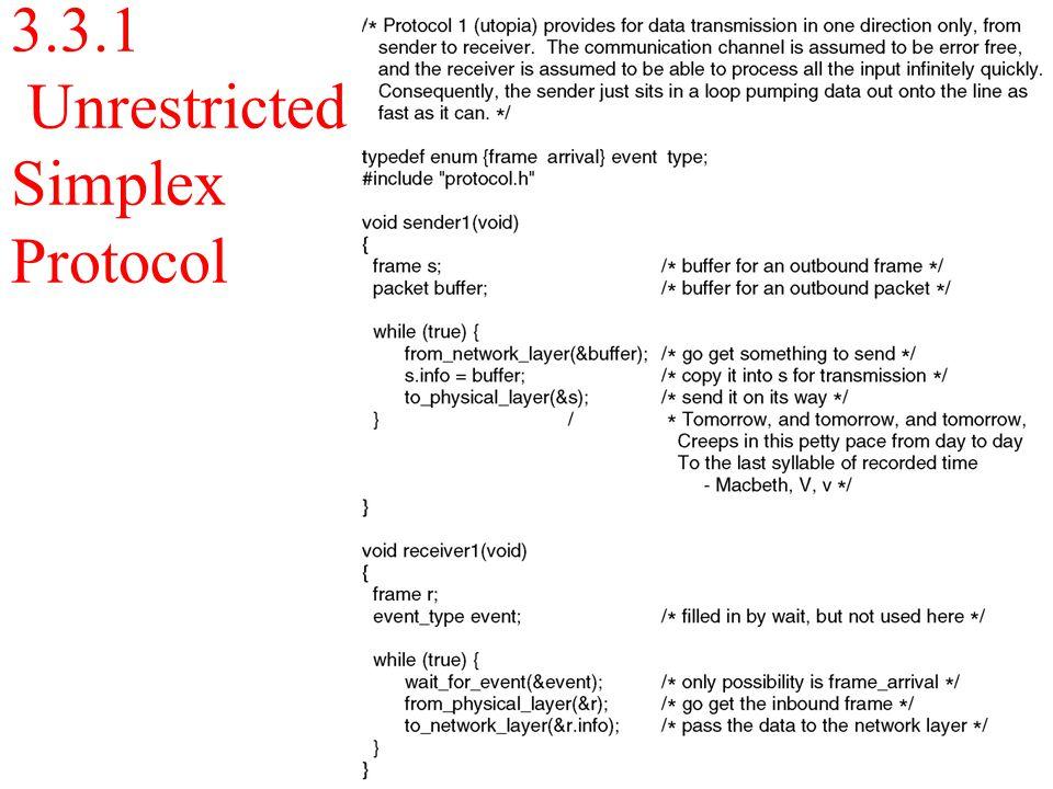 3.3.1 Unrestricted Simplex Protocol