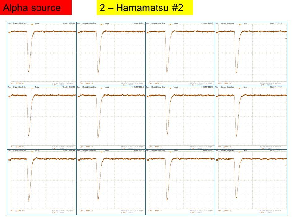 2 – Hamamatsu #2Alpha source
