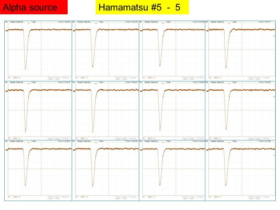 Hamamatsu #5 - 5Alpha source