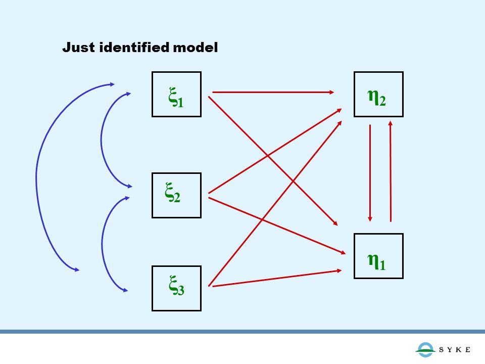 ξ1ξ1 ξ2ξ2 ξ3ξ3 η2η2 η1η1 Just identified model