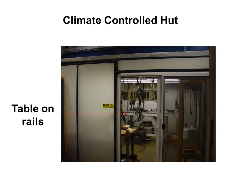 Climate Controlled Hut Table on rails