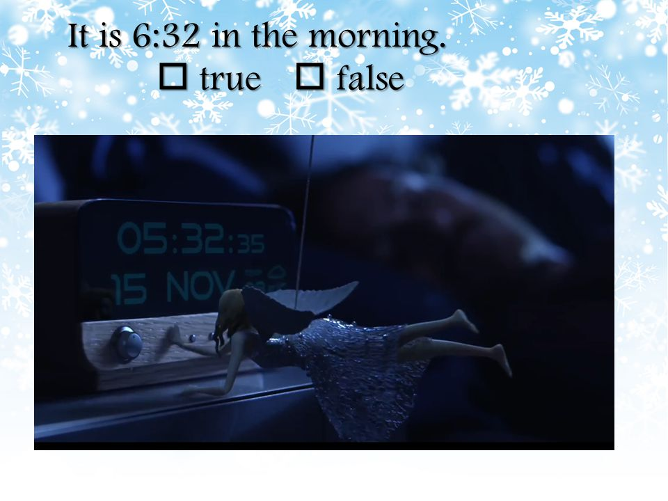 What's the date on the alarm clock ?