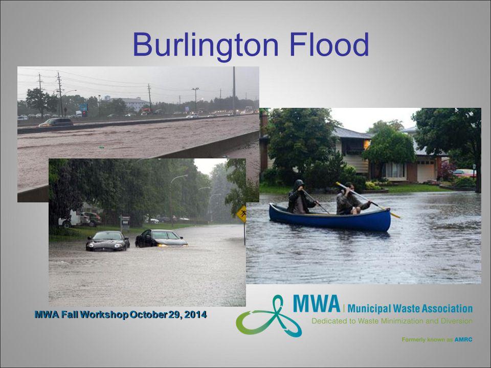 MWA Fall Workshop October 29, 2014 Burlington Flood