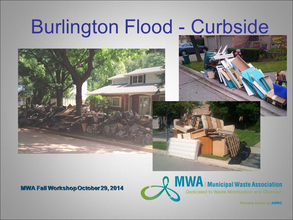 MWA Fall Workshop October 29, 2014 Burlington Flood - Curbside