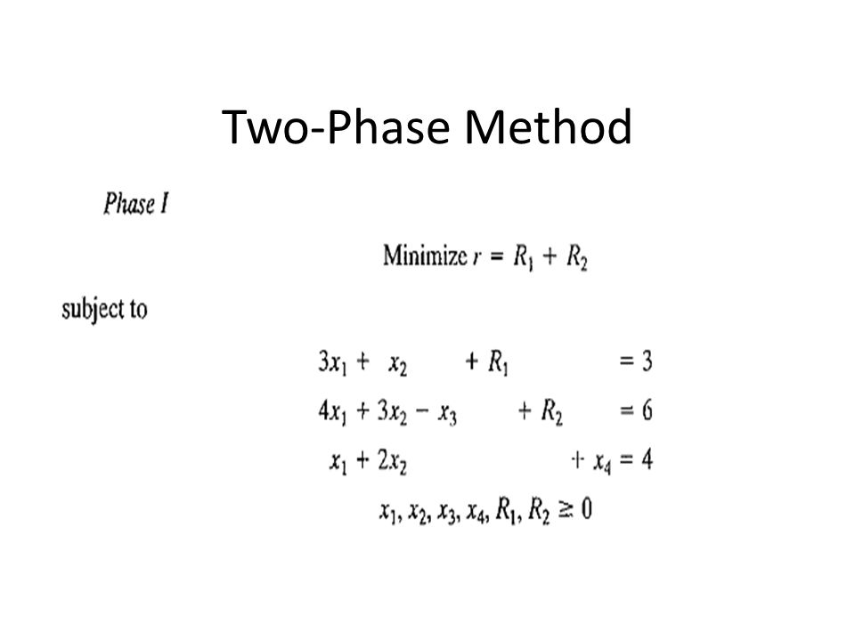 Two-Phase Method