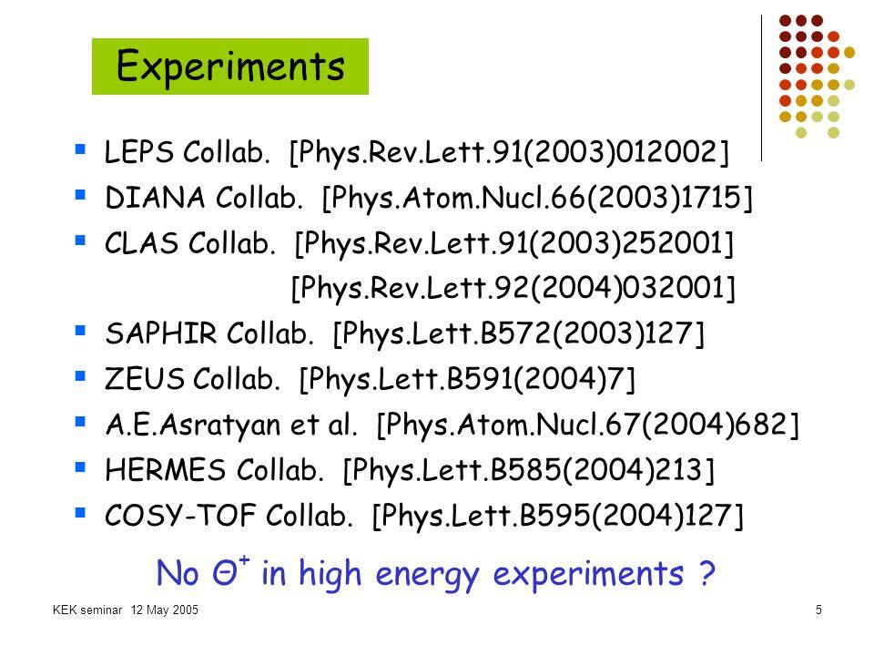 KEK seminar 12 May 20056 Theories Some models Chiral soliton model (Skyrme model) Quark model...