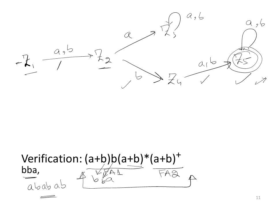 Question (concatenation) Find FA2FA1 for the following: 12