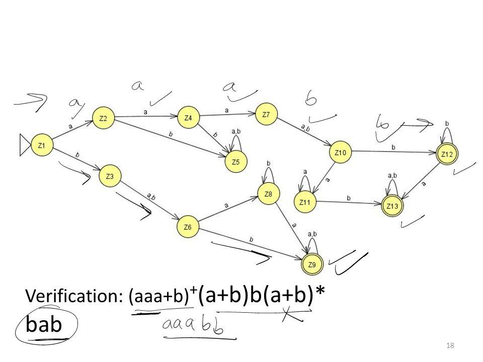 Question (concatenation) Find FA3FA2 for the following: 19
