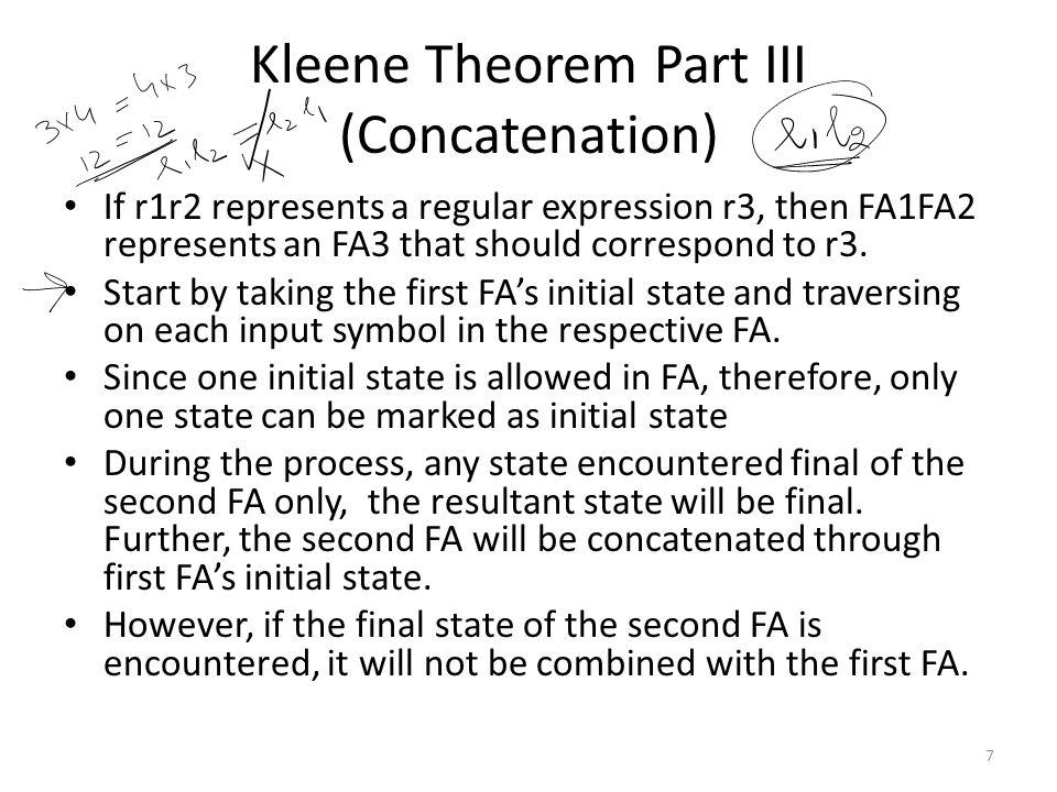 3 Questions for Concatenation FA1: (a+b)b(a+b)* FA2: (a+b) + FA3: (aaa+b)+ 8