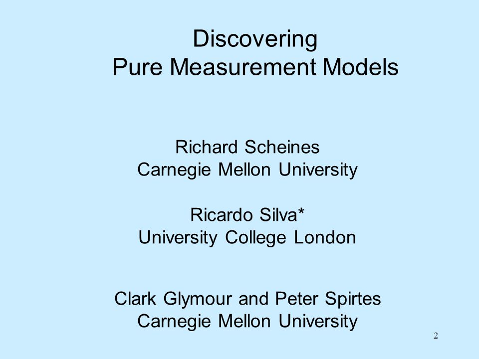 Purify Iteratively remove item whose removal most improves measurement model fit (tetrads or  2 ) – stop when confirmatory fit is acceptable Remove x4 Remove z2