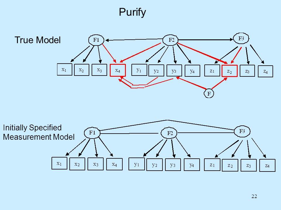22 Purify True Model Initially Specified Measurement Model
