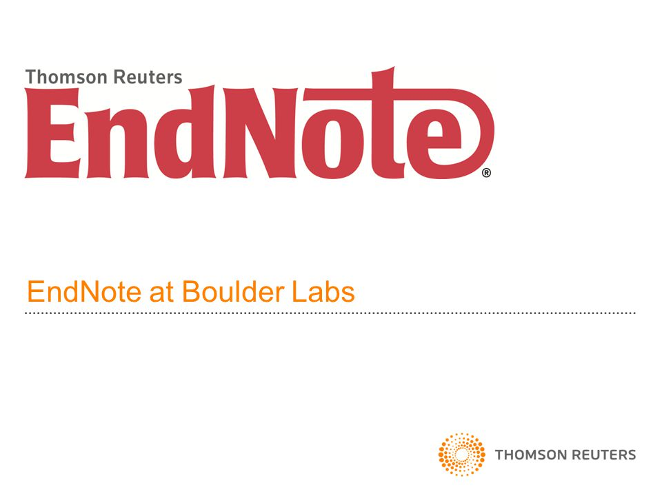 EndNote at Boulder Labs
